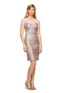 Jacquard Illusion Sheath from PHOEBE COUTURE