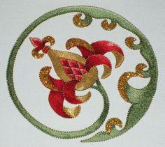 goldwork in Jacobean style