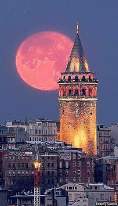 visual result in connection with landscape photos Beautiful Moon, Beautiful Places, Watercolor Landscape, Landscape Paintings, Hd Cool Wallpapers, Istanbul City, Sunset Wallpaper, Belle Villa, Turkey Travel