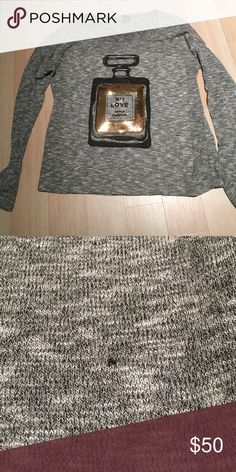 The Classic Sequined Perfume Bottle Knit Beautiful sweater. Rayon poly blend. Small barely noticeable snag in second photo. Worn only twice. the classic Sweaters Crew & Scoop Necks