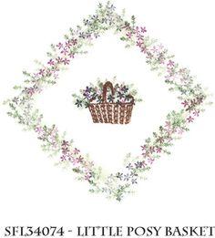 Stempelset 'Little Posy Basket'  Design: Rubber Stamp Tapestry
