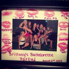Bachelorette Party ideas... could give lipstick as the party favor too