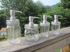 Ball Mason Jar FOAMING Soap Dispenser with METAL by MasonMealsMore, $12.95