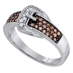 Pin it for later. Find out more chocolate diamond engagement rings. Diamond Bands, Diamond Wedding Bands, Diamond Engagement Rings, White Gold Wedding Bands, Belt Buckles, Band Rings, Fashion Rings, Size 10, Brown