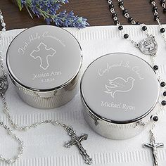 Holy Day Engraved Rosary Case - First Communion Gifts - First Communion Gifts