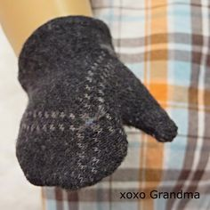 "Converting Socks into 18"" Doll Mittens and a hat.  Tutorial on how to make these from a missing sock."