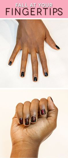 How to get this perfect-for-fall mani in 4 easy steps.