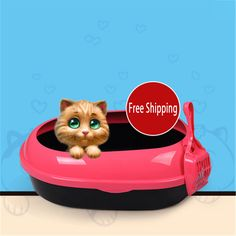 Litter Box Cat Large Toilet Enclosed Shovel Closed Pets Dog Animal Tray For Cats Letter Box Sand Tray Restroom House DDM2AA0