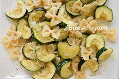 Farfalle pasta with zucchini