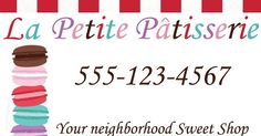 Fun with AG Fan: Grace's Bakery Business Cards Printable