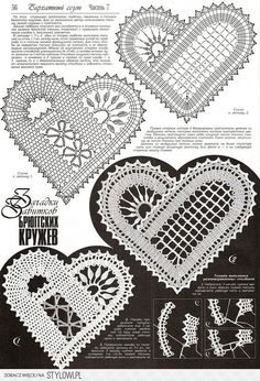 irish crochet motifs View album on Crochet Motif Patterns, Bobbin Lace Patterns, Crochet Chart, Crochet Stitches, Heart Patterns, Russian Crochet, Irish Crochet, Freeform Crochet, Crochet Lace