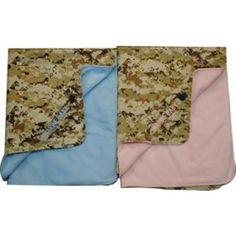 Marine Baby Digital Desert Blue or Pink Blanket | Infant and Toddler Clothing | Kids | Sgt Grit - Marine Corps Store