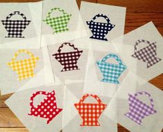 Basket quilt with gingham