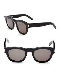 37abcd40c4c 49MM Square Sunglasses by SAINT LAURENT at Gilt. Wayfarer SunglassesRound  SunglassesEyewearSaint LaurentFramesGlassesRound ...