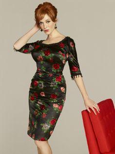 Christina Hendricks in Mad Men Floral Dress