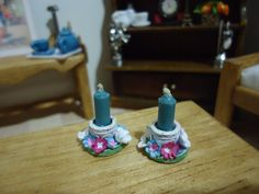 miniature candle holders 1:12 scale2 PCS by MINISSU on Etsy