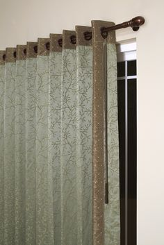 Window Treatment Buying Guide: How To Buy Curtains . Simple Living Room Curtains Pattern In Solid Curtain . Home Design Ideas Patio Door Coverings, Patio Door Curtains, Window Coverings, Drapes Curtains, Valance, Large Window Treatments, Window Treatments Living Room, Wall Treatments, Kitchen Sliding Doors