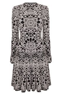 Flower Lace Jacquard Sleeved Mini-Dress  McQueen…forever.