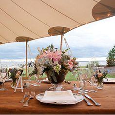 Beautiful outdoor wedding on the Chesapeake Bay near Annapolis, Maryland.