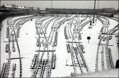 Northfields depot in the snow