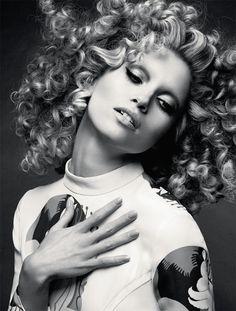 Hair by Rolando Beauchamp - Hana Jirickova Rocks Curly Hair in Numero Russia Spread by David Roemer