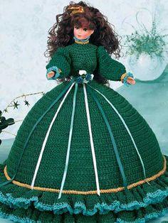 "Shamrock Pillow Doll - Fits 11 1/2"" fashion doll. Crocheted using size 10 crochet cotton thread. Skill Level: Intermediate Designed by Susie Spier Maxfield"