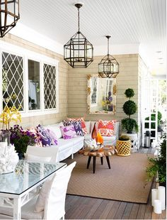 I love all the outdoor living ideas on this post. But really like this one here. White wouldn't be the best here in Palmdale but it is made very nicely.