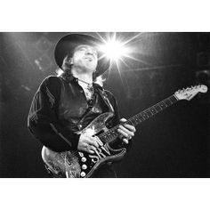 """Robert Knight Fine Photography  -"""" Stevie In The Ligh""""t - 16'x20 Edition 250 - 30""""x40"""" Edition 5.0 See the collection: http://www.rockstargallery.net/robert-knight #robertknight  #stevierayvaughan  #srv  #rockstargallery"""