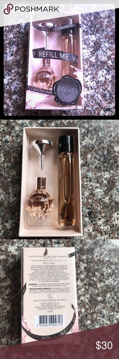 Viktor & Rolf Flowerbomb 🌸 NIB Authentic Viktor & Rolf Flowerbomb travel duo. Product has never been used or opened. Plastic sleeve slid open solely for picture taking purposes. Viktor & Rolf Makeup