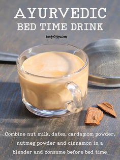 AYURVEDIC BEDTIME DRINK FOR DEEP SLEEP - BestOfTips Are you looking for weight loss drinks? Maybe you want to know how to make weight loss smoothies? Check these delicious, easy-to-make healthy smoothies recipes for rapid weight loss. Healthy Smoothie Recipes, Smoothie Drinks, Healthy Drinks, Healthy Snacks, Healthy Eats, Lunch Smoothie, Breakfast Smoothies, Ayurvedic Healing, Health And Fitness