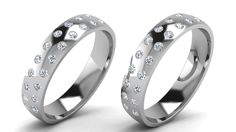 Beautiful white gold wedding bands, set with brilliant cut diamonds. These amazing rings can be tailored to suit your style.