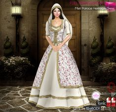 https://flic.kr/p/234JpKy | Get Full Set (Hair,Veil, Necklace, Dress) and SAVE50% | marketplace.secondlife.com/p/Meli-Full-Perm-Fitmesh-3in1-...