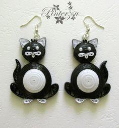 Cat earrings by pinterzsu