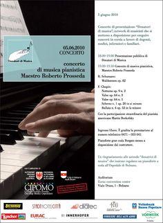 Donatori di Musica Concerto di Roberto Prosseda e Martin Berkofsky e congresso dell'Associazione Bolzano 5 giugno 2010