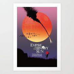 Empire of the Binary Sun Art Print by Cû3ik Designs - $16.00