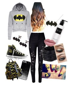 """BATMAN"" by soccerbeast15 on Polyvore featuring Converse, Victoria's Secret and Saachi"