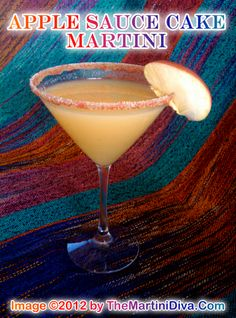 June 6th is National Apple Sauce Cake Day - Are you ready for an APPLE SAUCE CAKE MARTINI??  Click the image for the Recipe & Free Recipe Card!