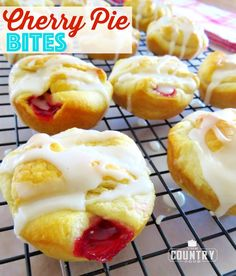 Cherry Pie Bites uses pantry ingredients like pie filling and crescent rolls to make a super simple and super tasty dessert!