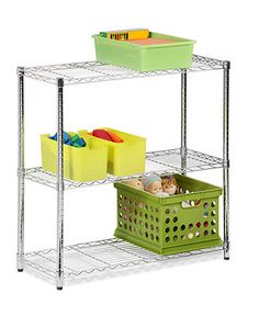 "Honey Can Do Storage Shelf, 48"" Chrome 3 Tier - Storage & Organizing - for the home - Macy's"