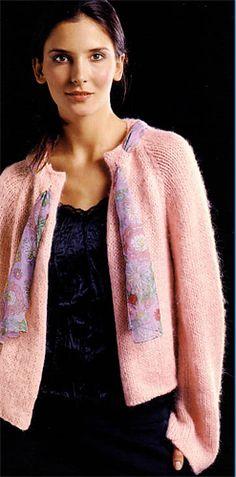 Bergere de France Edge to Edge Cardigan Knitting Pattern