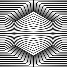 "day 236 - Monthly theme ""Hexxed"" built in Illustrator. Cool Optical Illusions, Art Optical, Optical Illusion Art, Illusion Drawings, 3d Drawings, Op Art, Monthly Themes, Geometry Art, Zentangle Patterns"