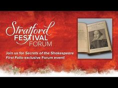 The Secrets of the Shakespeare First Folio | The Forum | Stratford Festival 2014 - YouTube