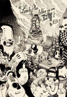 Water Tower by Mc Bess Art And Illustration, Illustration Design Graphique, Art Graphique, Betty Boop, Mc Bess, E Dublin, 1930s Cartoons, Rockabilly Art, Arte Horror