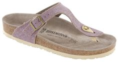 Birkenstock Gizeh lilac linen with cream sole