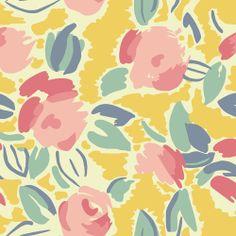 Laura Ashley Emma Floral Fabric in Straw