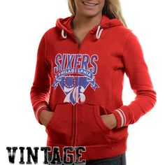 8827016e2 Mitchell & Ness Philadelphia 76ers Women's Vintage NBA Full Zip Hoodie...  (