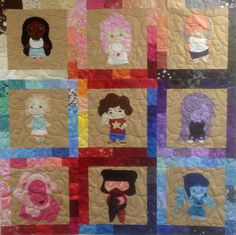 Steven Universe Quilt by FandomQuilts on Etsy https://www.etsy.com/listing/238409915/steven-universe-quilt