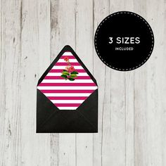 Printable Envelope Liner Template A A A Digital File