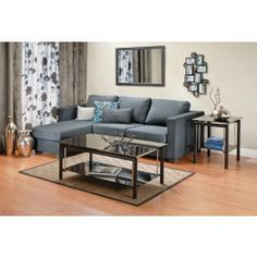 KANSAS CORNER SOFA Loveeeee these kinds of couches just add some blankets and pillows and I would never leave the couch Grey Corner Sofa, Gray Sofa, Sofa Furniture, Living Room Furniture, Living Rooms, Striped Couch, Ikea Couch, House Smells, Affordable Furniture