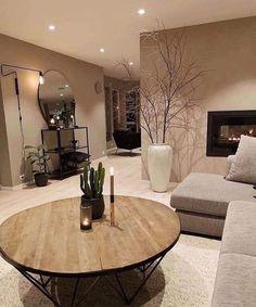 Warm colors and cozy interior design 👌 Nordic Living Room, Classy Living Room, Living Room Decor Cozy, Home Living Room, Bedroom Decor, Home Room Design, Home Interior Design, House Design, Living Room Inspiration